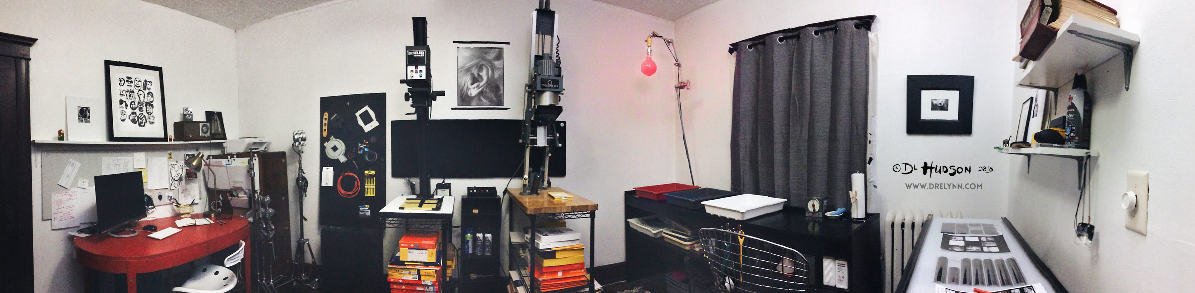 DIY Apartment Darkroom Panorama / ©DL Hudson 2015, All Rights Reserved
