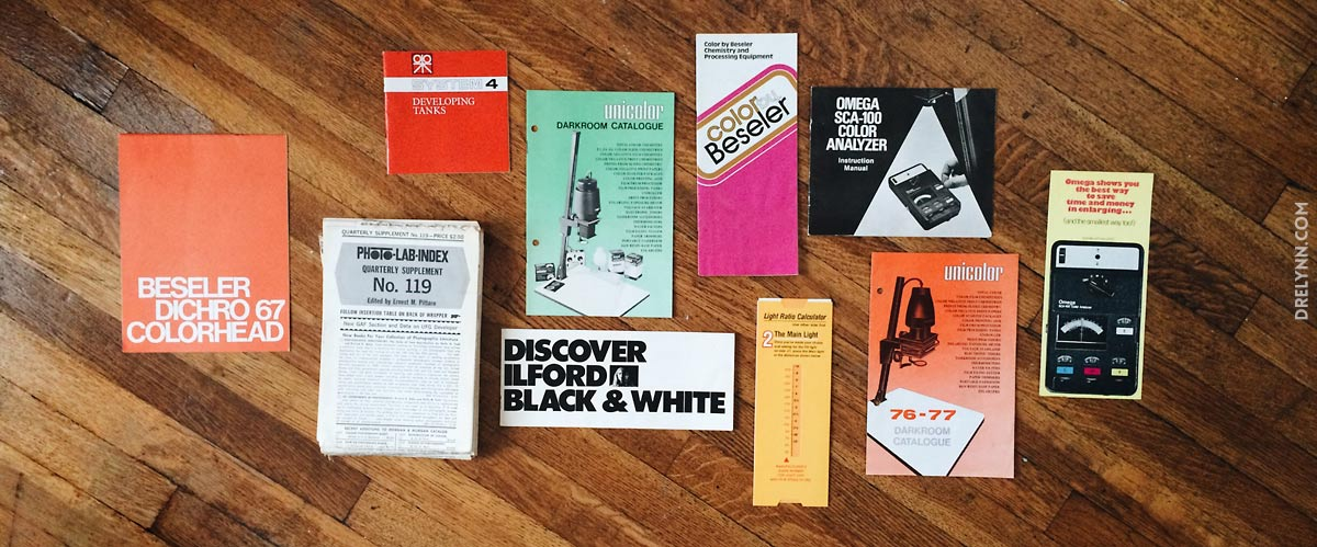 VINTAGE DARKROOM INSTRUCTION MANUALS