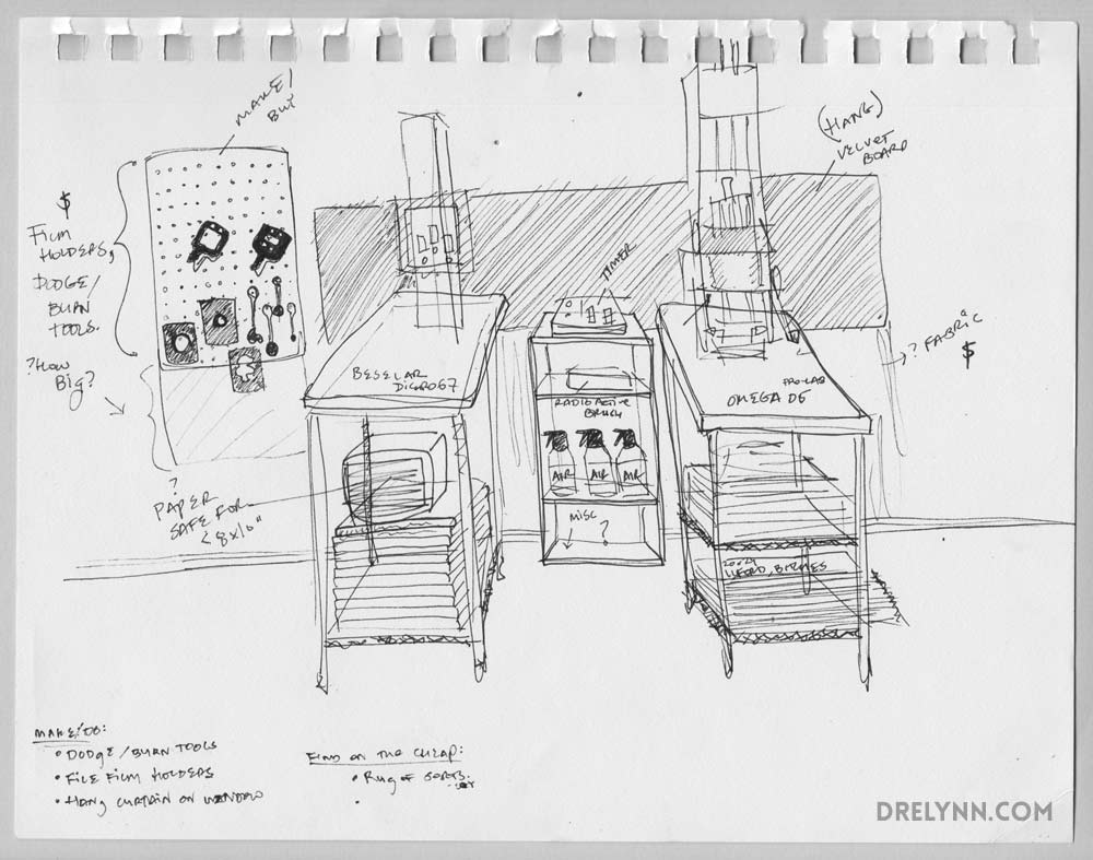 Apartment Darkroom Plans, DL Hudson