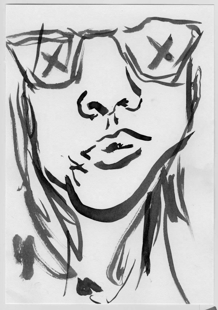 ninety second portrait study with india ink