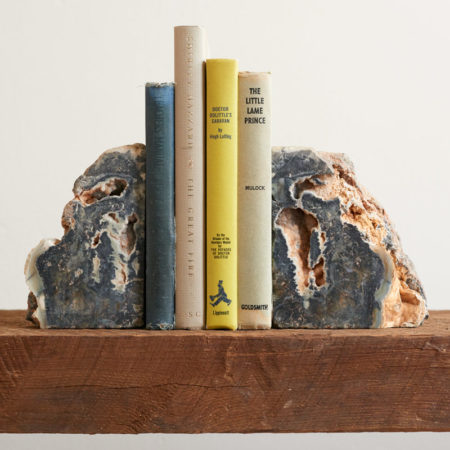 Orange and Blue Vintage Stone Bookends ©Andrea Dre L Hudson 2016