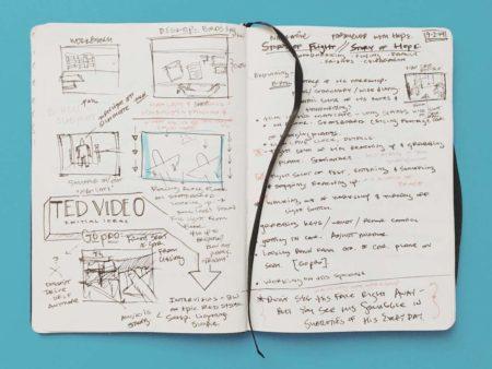 Ted Storyboarding, Art Journal, Andrea dre lynn hudson